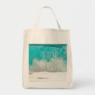 Emerald Ocean Crashing Waves - Beach Bliss Tote Bag