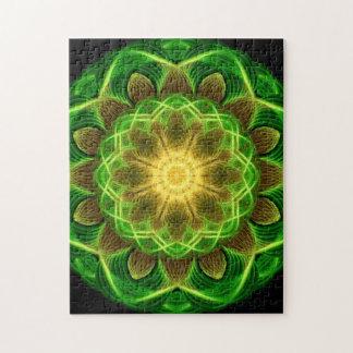 Emerald Orb Mandala Jigsaw Puzzle
