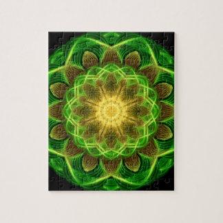Emerald Orb Mandala Puzzle