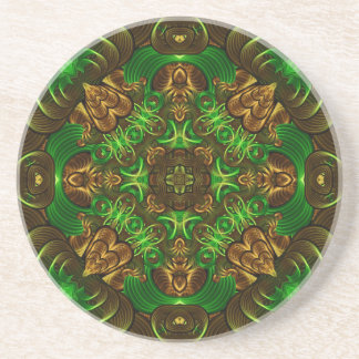 Emerald Path Mandala Coasters