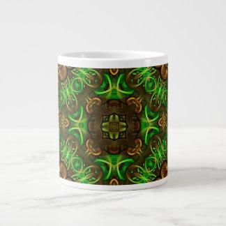 Emerald Path Mandala Large Coffee Mug