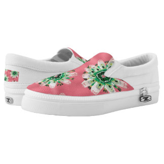 Emerald Rose Slip On Shoes