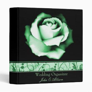 Emerald Rose Wedding Organizer Binder