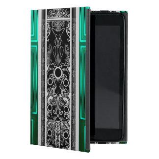 Emerald Scroll Cat Case For iPad Mini