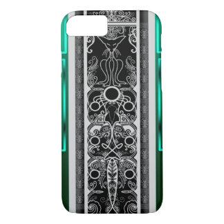 Emerald Scroll Cat iPhone 8/7 Case