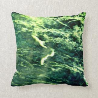 Emerald Seas Throw Pillow