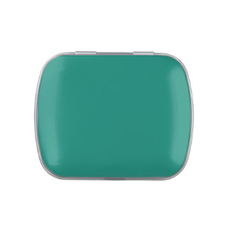 Emerald Spring Green Trend Color Customized Blank Jelly Belly Tin