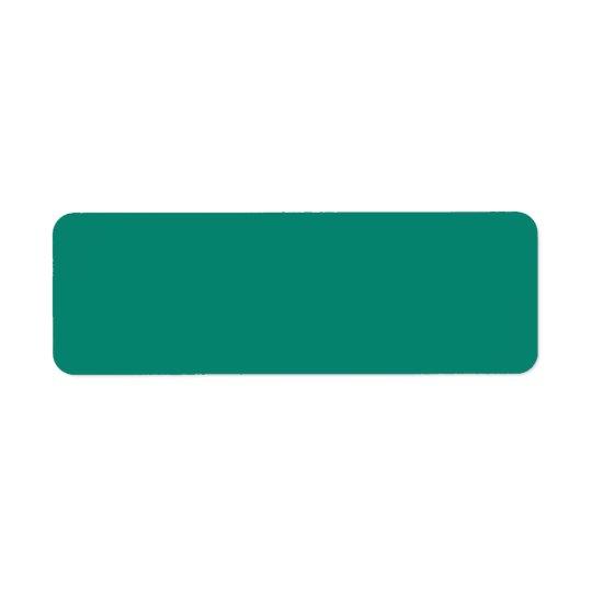 Emerald Spring Green Trend Colour CustomTemplate Return Address Label