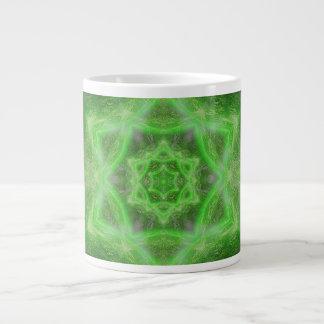 Emerald Star Mandala Giant Coffee Mug