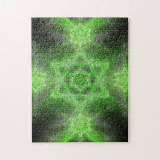 Emerald Star Mandala Puzzles