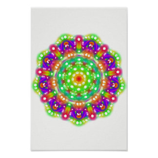 Emerald Starburst Mandala Wall Art