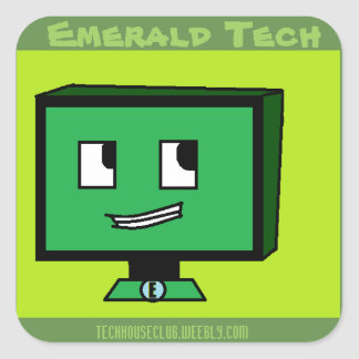 Emerald Tech Stickers