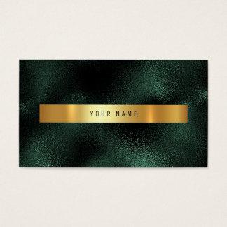 Emerald Tropical Green Gold Vip Ombre Glitter Business Card