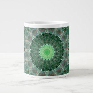 Emerald Turtle Mandala Giant Coffee Mug
