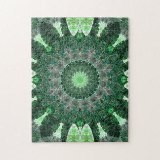 Emerald Turtle Mandala Puzzle