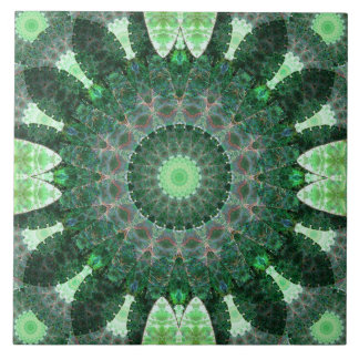 Emerald Turtle Mandala Tiles
