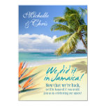 "Emerald Waters Reception Card (Jamaica) 4.5"" X 6.25"" Invitation Card"