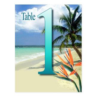 Emerald Waters Table Card No. 1 | aqua