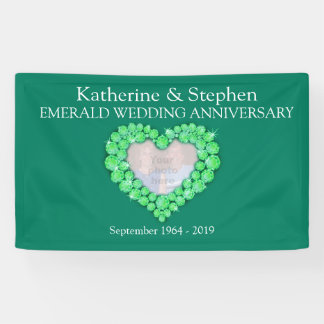 Emerald Wedding anniversary green banner