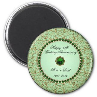 Emerald Wedding Anniversary Magnet