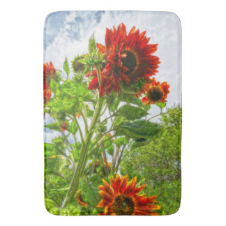 Emeralds and Fire Sunflower Bathmat