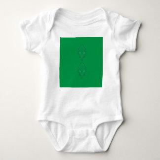 Emeralds green design baby bodysuit