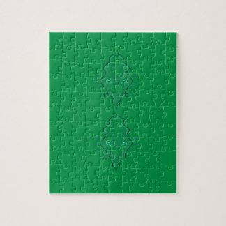 Emeralds green design jigsaw puzzle