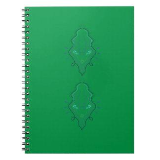 Emeralds green design spiral notebook