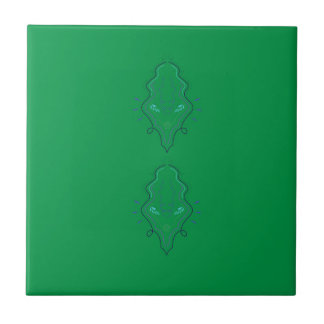 Emeralds green design tile