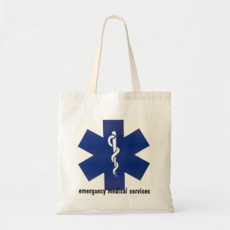 emergancy medical services first aid bad tote bag