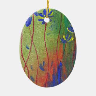 emerge ceramic oval ornament