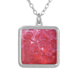 Emerge contemporary abstract carnation red floral personalized necklace