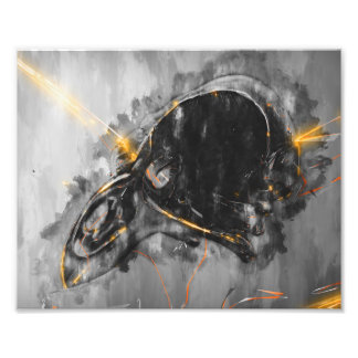 Emerge from the blackness wall art print photograph
