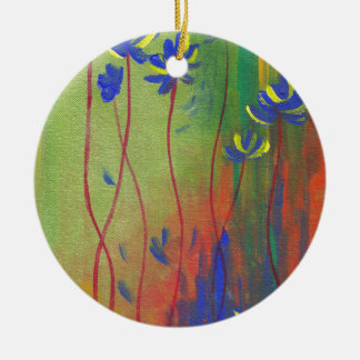 emerge round ceramic ornament