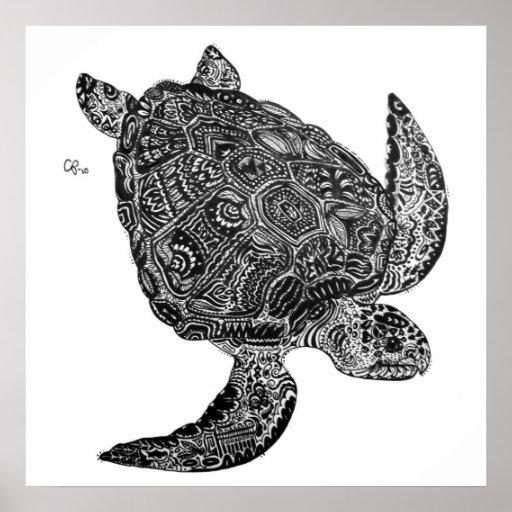 Emergen-Sea Turtle Custom Art Print