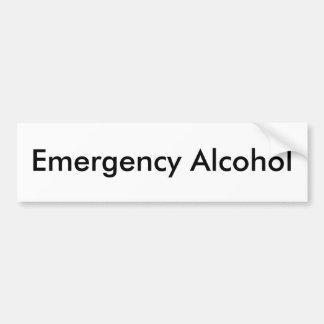 Emergency Alcohol Bumper Sticker