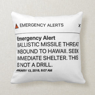 Emergency Alert pillow