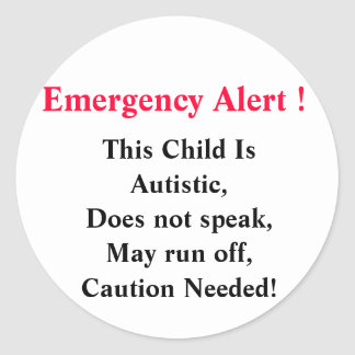 Emergency Alert Stickers