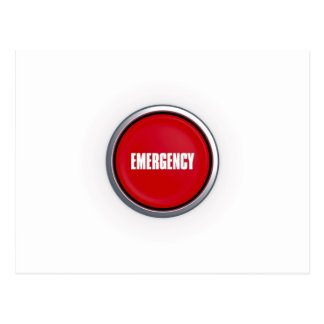 Emergency Button Postcard