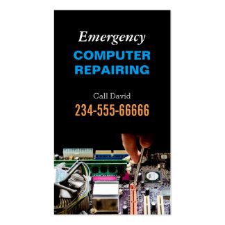Emergency Computer Repairing Maintenance PC Master Business Card