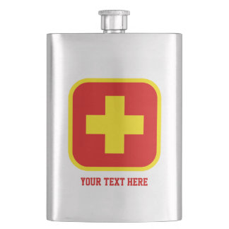 Emergency Drink Flask with Custom Text