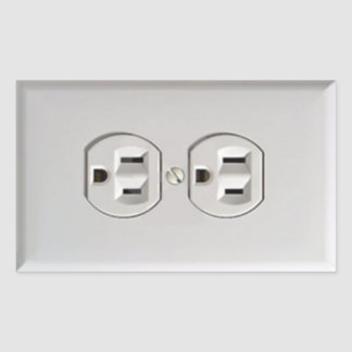Emergency Electrical Outlet Sticker