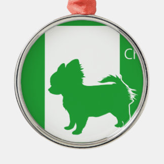 Emergency exit chihuahua T shirt Metal Ornament