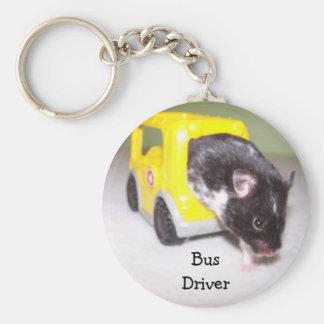 emergency exit Noah, Bus Driver Basic Round Button Keychain