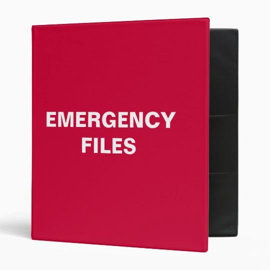 Emergency File Binder