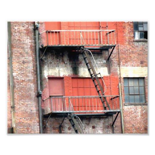 Emergency Fire Stairs Photo Art