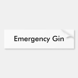 Emergency Gin Bumper Sticker