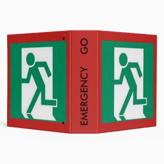 Emergency Go Folder 3 Ring Binders