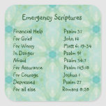 Emergency Information Scriptures for Encouragement Square Stickers