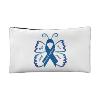 Emergency Kit Case: Awareness Butterfly Makeup Bags